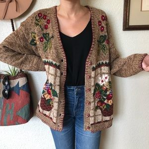 Vintage 90s Graphic Knit Sweater